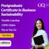 Postgraduate Certificate in Business Sustainability